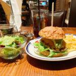 527【自由が丘】ゆったり時間の流れるカフェでハンバーガー!「BLUE BOOKS cafe(ブルーブックスカフェ)」