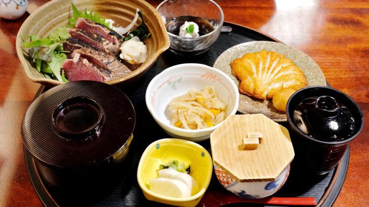 老舗土佐料理店「祢保希(ねぼけ)」で鰹のたたきランチ@赤坂