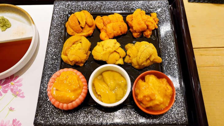 【鮨 青海】雲丹9種の食べ比べ!充実の江戸前鮨と一品料理@銀座