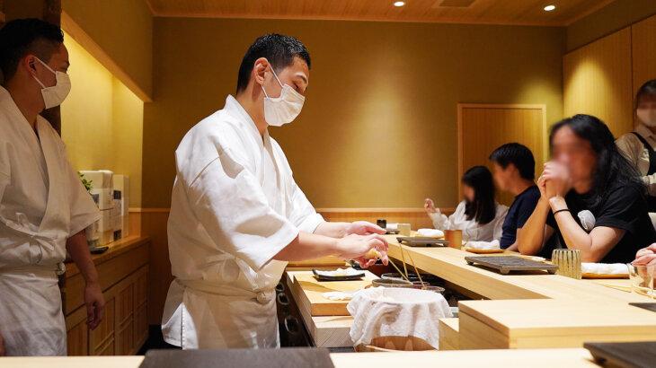 【鮨処 やまと】日本橋蛎殻町すぎた出身、既に予約困難の新店@築地
